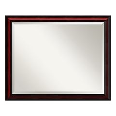 Amanti Art Rubino Cherry Finish Wall Mirror