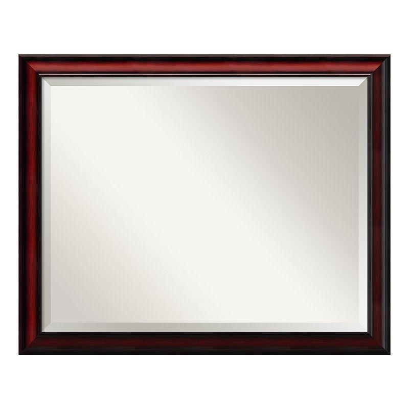Amanti Art Rubino Cherry Finish Wall Mirror, Red, Large