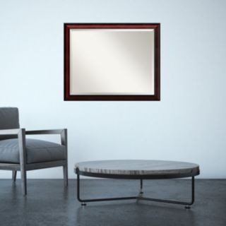 Amanti Art Rubino Cherry Finish Wall Mirror