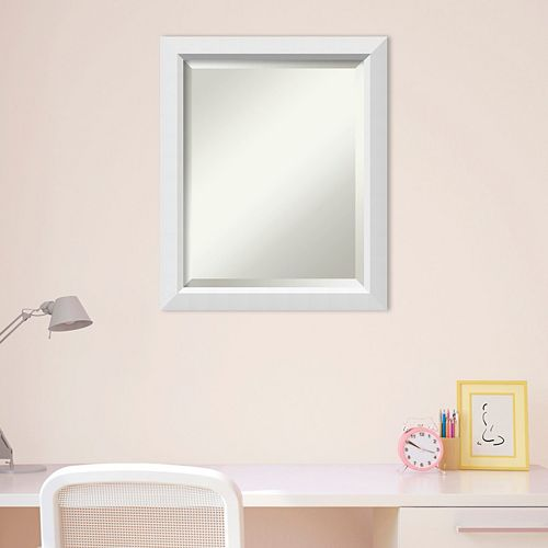 Amanti Art White Wall Mirror