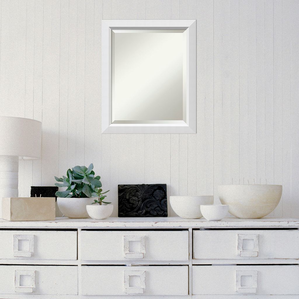 Amanti Art White Wall Mirror