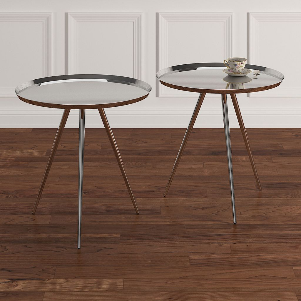 HomeVance Romeria Nesting Table 2-piece Set