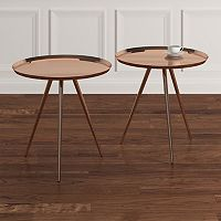 HomeVance Romeria Nesting Table 2-piece Set