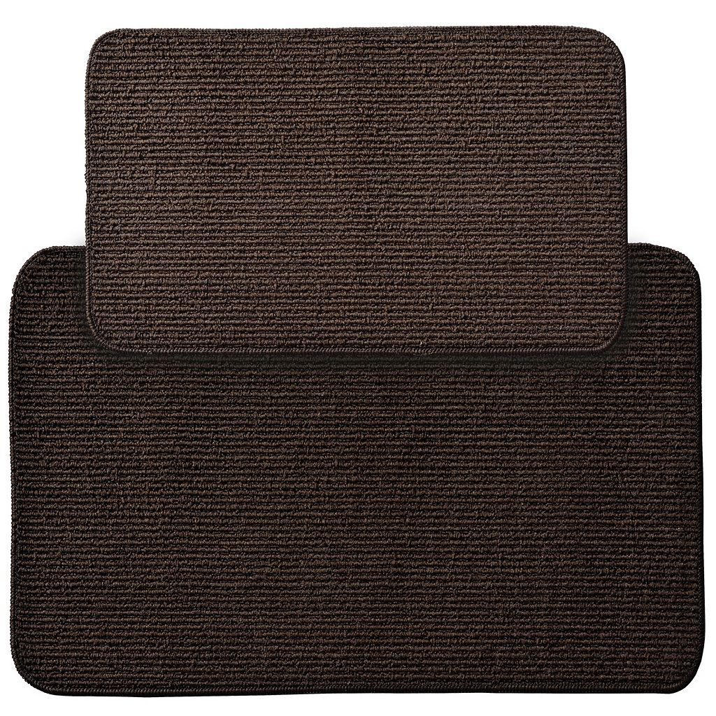 Garland Rug 2-piece Berber Rib Solid Rug Set