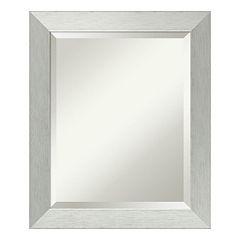 Amanti Art Silver Finish Wall Mirror