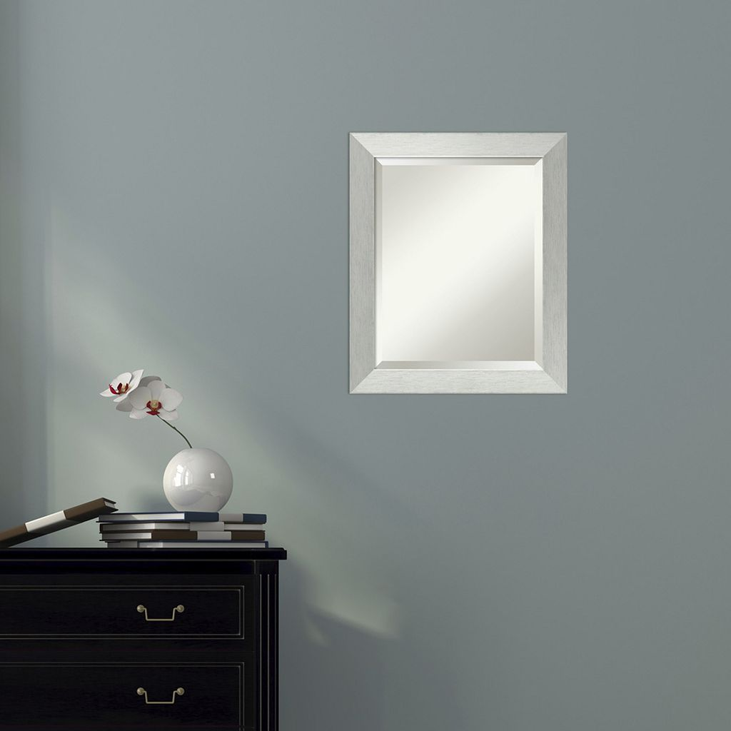 Amanti Art Silver Finish Wall Mirror