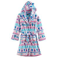Girls Cuddl Duds Tree Printed Fleece Robe