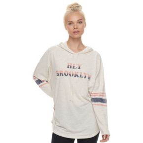 "Juniors' About A Girl ""Hey Brooklyn"" Long Sleeve Graphic Hoodie"