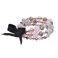 Simply Vera Vera Wang Pink Beaded Stretch Bracelet Set
