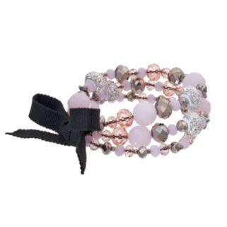 Simply Vera Vera Wang Pink Beaded Stretch Bracelet Set