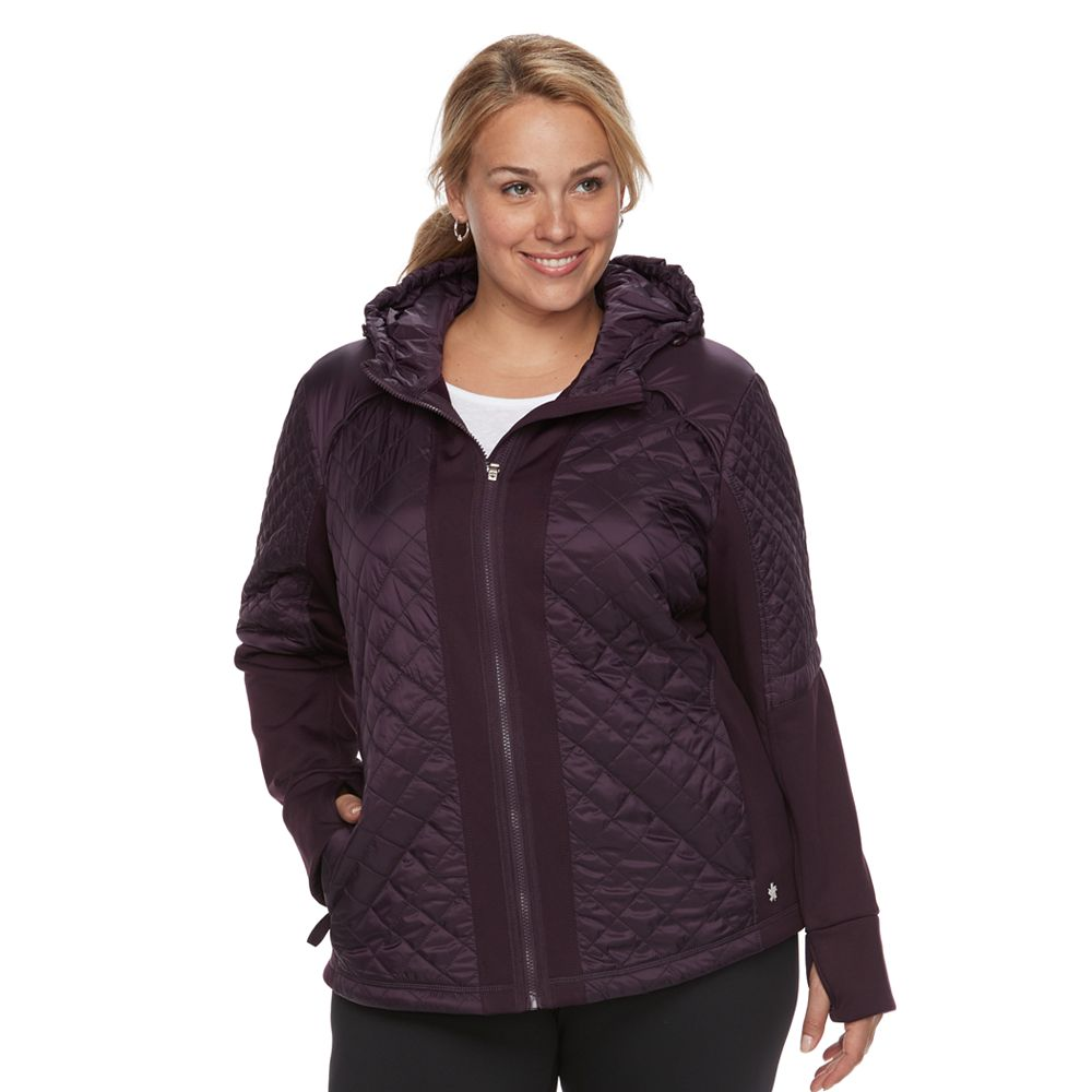 Size Tek Gear® Mixed Quilted Jacket : quilted jacket plus size - Adamdwight.com