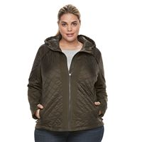 Plus Size Tek Gear® Mixed Quilted Jacket