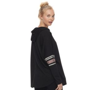 """Juniors' About A Girl """"Lazy"""" Long Sleeve Graphic Hoodie"""