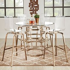 HomeVance Aralia Counter Height Dining Table & Chair 5 pc Set