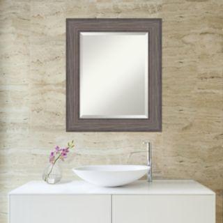 Amanti Art Country Barnwood Framed Wall Mirror