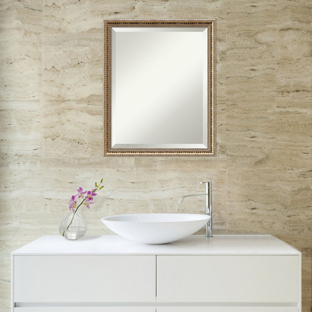 Amanti Art Fluted Champagne Finish Wall Mirror