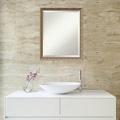 Amanti Art Fluted Champagne Finish Wall Mirror