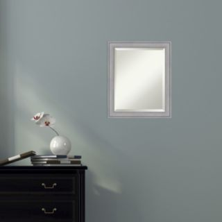 Amanti Art Small Washed Gray Square Wall Mirror