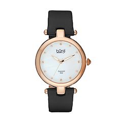 burgi Women's Diamond Leather Watch