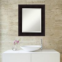 Amanti Art Portico Espresso Framed Wall Mirror