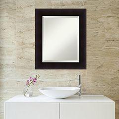 Amanti Art Portico Espresso Framed Wall Mirror