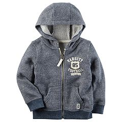 Boys 4-8 Carter's Marled French Terry 'Varsity Football' Zip Hoodie