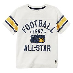 Boys 4-8 Carter's 'Football 1987 All-Star' Striped Graphic Tee