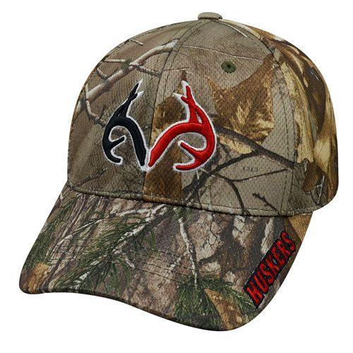 Adult Top of the World Nebraska Cornhuskers Realtree One-Fit Cap
