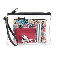 Mundi 4-in-1 Phone Charging Wristlet, Pouch & Card Case Set