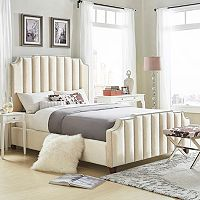 HomeVance Adalee Upholstered Velvet Bed