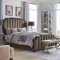 HomeVance Adalee Upholstered Velvet Bed