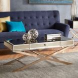 HomeVance Eleos Mirrored Coffee Table