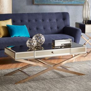 HomeVance Eleos Mirrored Coffee Table
