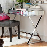 HomeVance Juliana Mirrored Desk