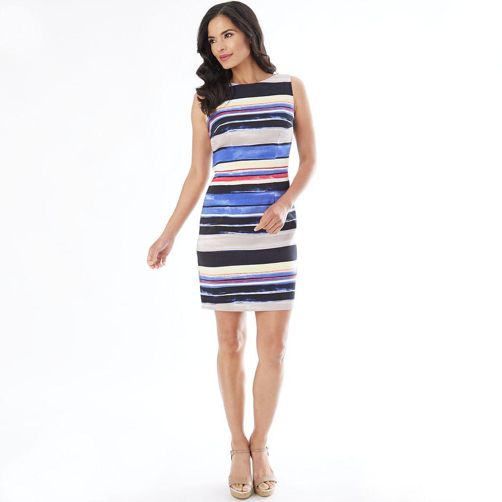 Women's AB Studio Striped Sheath Dress