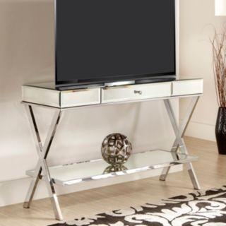 HomeVance Juliana Mirrored TV Stand