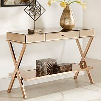 HomeVance Juliana Mirrored TV Stand