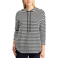 Petite Chaps Striped Double-Knit Hoodie