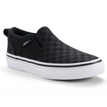 728571b0d05 Vans Asher Boys  Checkered Skate Shoes