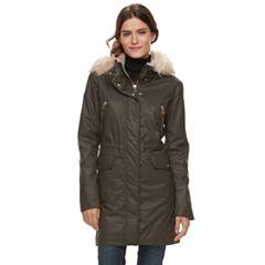 Women's Apt. 9® Faux-Fur Hood Parka