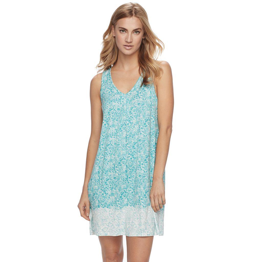 Women's Apt. 9® Pajamas: Lace Back Chemise