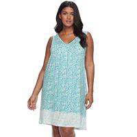Plus Size Apt. 9® Pajamas: Lace Back Chemise