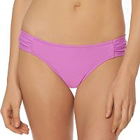 Women's Pink Envelope Shirred Hipster Bikini Bottoms