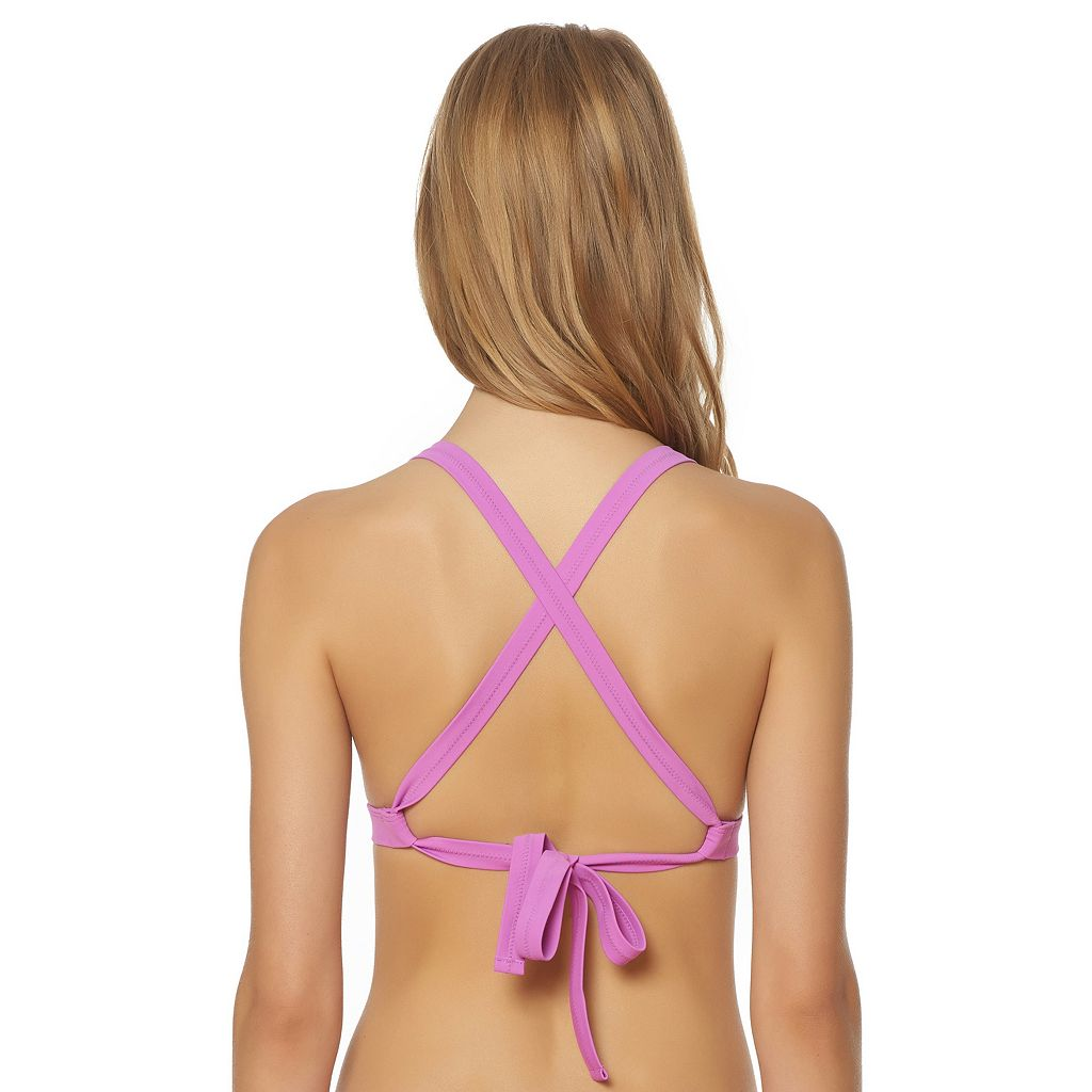 Women's Pink Envelope D-Cup Triangle Bikini Top