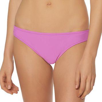 Women's Pink Envelope Shirred-Back Bikini Bottoms