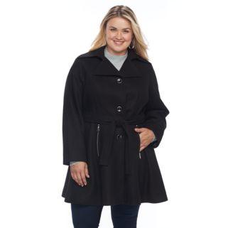 Plus Size Apt. 9® Wool Blend Peplum Jacket