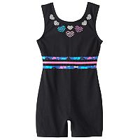 Girls 4-14 Jacques Moret Embellished Biketard Leotard