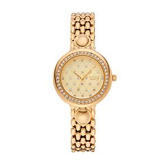 burgi Women's Diamond & Crystal Quilted Watch