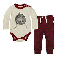 Baby Girl Burt's Bees Baby Organic Lasso the Moon Bodysuit & Pants Set