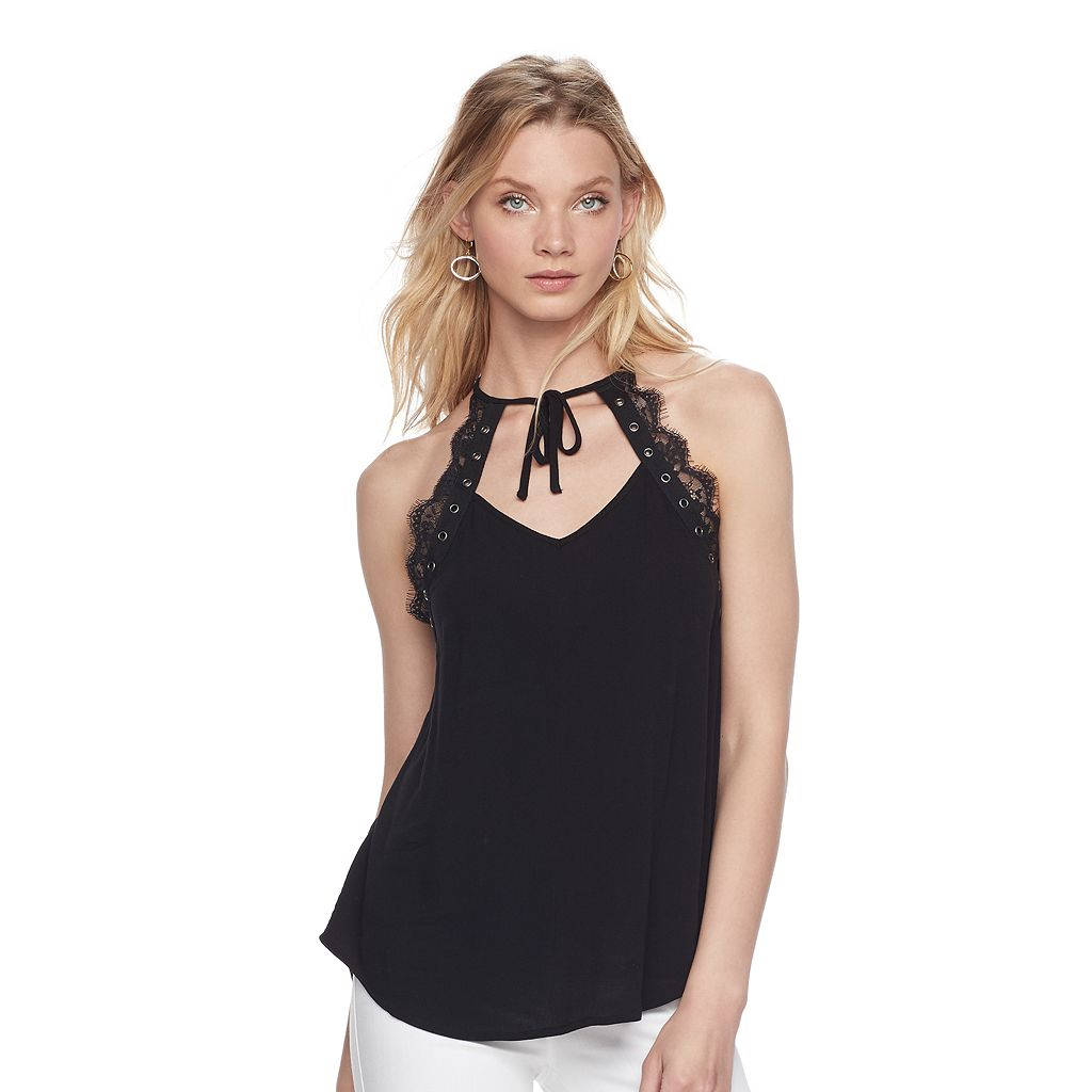 Women's Rock & Republic® Lace Trim Tank